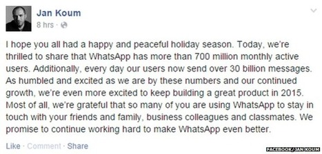 WhatsApp: Record number of messages sent each day | Social Media Guru | Scoop.it