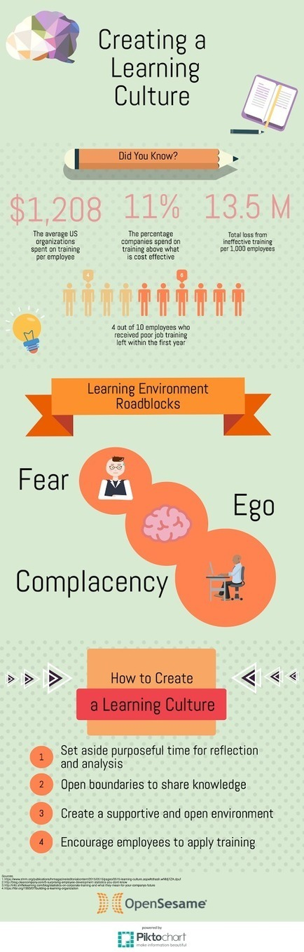 Create a Learning Culture in the Workplace Infographic - e-Learning Infographics | Learning Organizations | Scoop.it