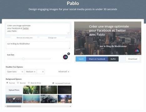 Créer une image optimisée pour Facebook et Twitter avec Pablo | Facebook pour les entreprises | Scoop.it