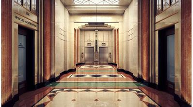 Couloir d'hotel art deco 3D | 3D Library | Scoop.it