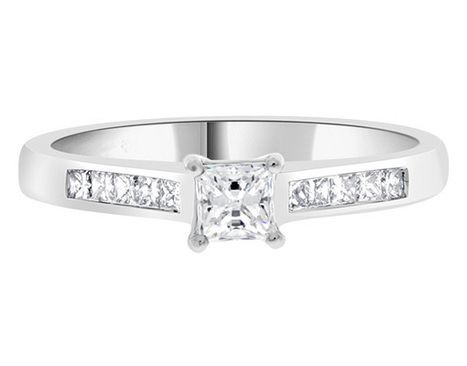 Princess cut diamond ring pr1002 | Engagement Rings | Scoop.it