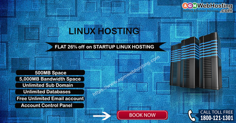 amazing offer Save Flat 26% at AGMWebHosting's Startup Linux Hosting Plan | AGM Web Hosting | Scoop.it
