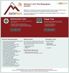 Opencast Matterhorn – Open source lecture capture and video ... | Lecture Capture (mainly Panopto, Matterhorn & research) | Scoop.it