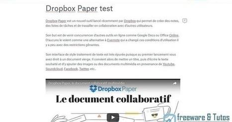 Dropbox Paper : le futur remplaçant d'Evernote ? | Freewares | Scoop.it
