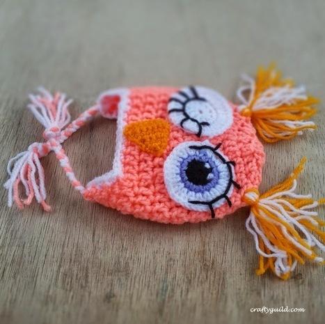 Crafty Guild: New Born Owly Hat | crochet | Scoop.it
