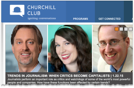 I'm Speaking At Churchill Club Panel: Trends In Journalism -SVW | Entrepreneurship, Innovation | Scoop.it
