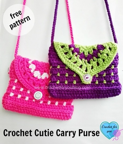 Free Crochet Purse Patterns For Beginners : Free Crochet Cutie Carry Purse Pattern Just Crochet Scoop.it