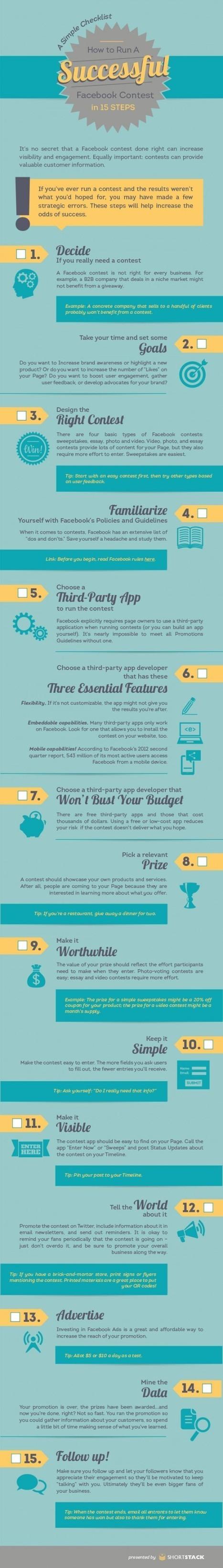 Comment lancer un concours Facebook? [Infographie] - Emarketinglicious   Création d'entreprise pour Eudia   Scoop.it