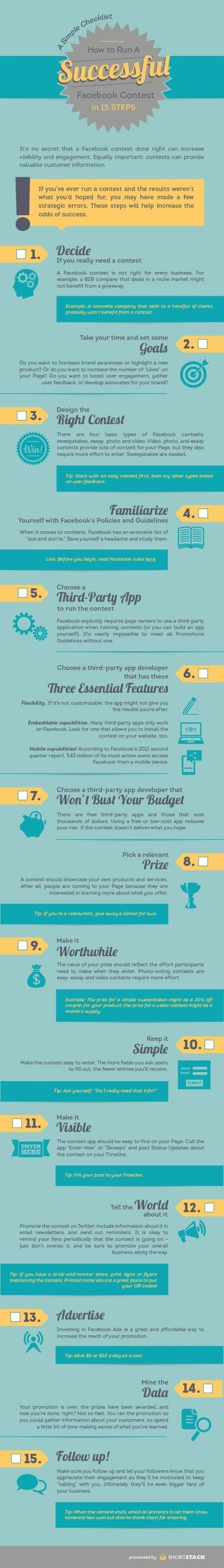 Comment lancer un concours Facebook? [Infographie] - Emarketinglicious | SOCIAL MEDIA STRATEGIST BY LEILA | Scoop.it