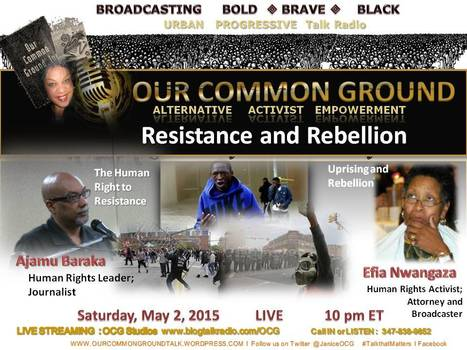 """Uprising: Resistance and Rebellion"" with Ajamu Baraka and Efia Nwangaza 