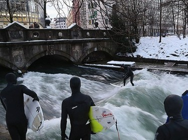 """XXXTreme XSports News!! """"Urban surfing: From Munich to China, daredevils ride inner-city rivers"""" 