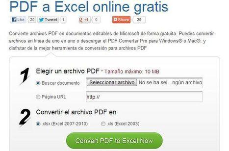Herramienta web gratuita para convertir archivos PDF a documentos de Excel | ProfeTIC | Scoop.it