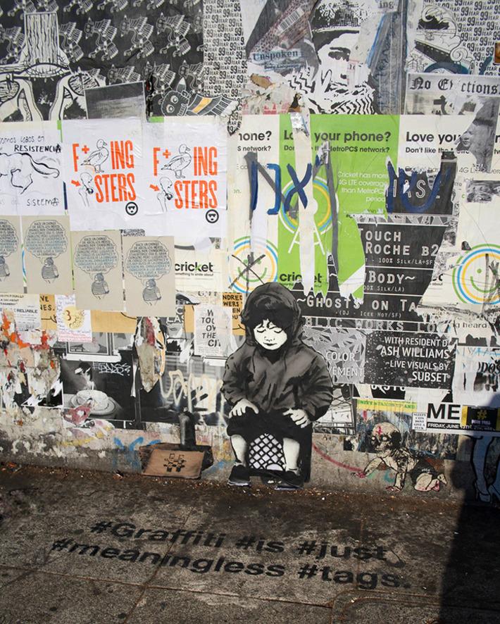 street art stencils show social media culture through graffiti - Designboom | ❤ Social Media Art ❤ | Scoop.it