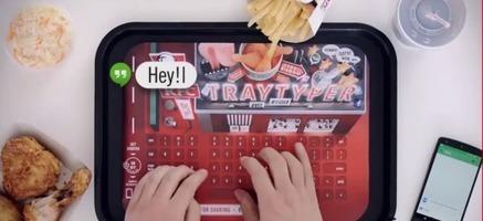 Un teclado en el mantel para seguir usando el móvil con los dedos llenos de grasa   tecno4   Scoop.it
