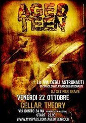 AGED TEEN + La Via Degli Astronauti  live at CELLAR THEORY - Napoli | kieccomete | Scoop.it
