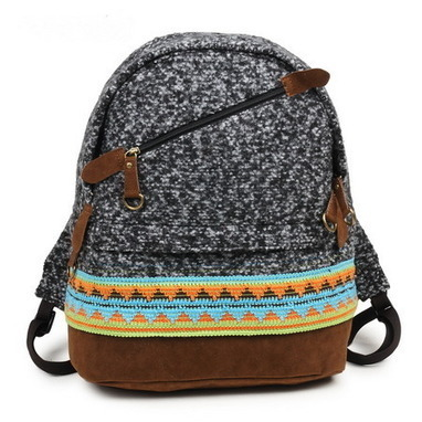 Black costume tweed Embroidery backpack for girls  from Vintage rugged canvas bags | Womens fashion | Scoop.it