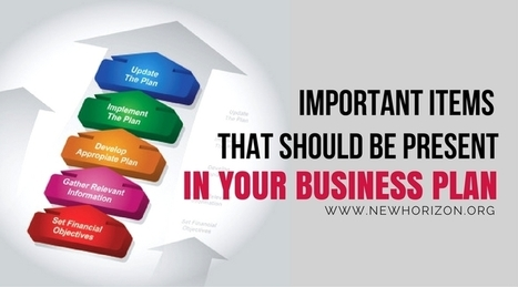 Important Items That Should Be Present In Your Business Plan | Be Your Own Boss - Start Your Own Business | Scoop.it