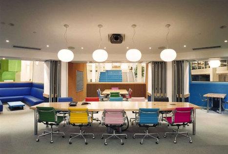 20 entreprises aux bureaux époustouflants dans lesquels vous rêveriez de travailler | Décoration et aménagement de bureaux | Scoop.it