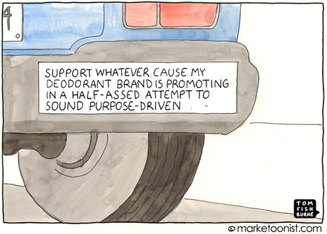 """Purpose-Driven Branding"" cartoon 
