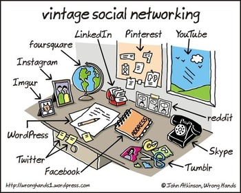 What Social Networking Looks Like in Real Life... [COMIC] | Business in a Social Media World | Scoop.it