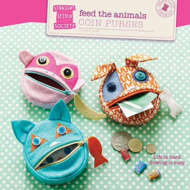 Feed the Animals Coin Purses | Straight Stitch Society | Einfach Nähen | Scoop.it