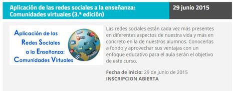 Curso online y gratuito sobre las redes sociales en la educación | Educacion, ecologia y TIC | Scoop.it