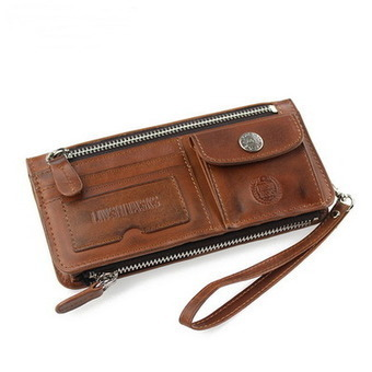 Men's gifts vintage leather Vertical bifold wallets purse with removable zip pocket from Vintage rugged canvas bags | Collection of backpack | Scoop.it