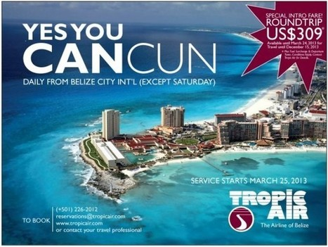 Tropic Air will inaugurate service from Belize City to Cancun on ... | Dive and travel Belize | Scoop.it