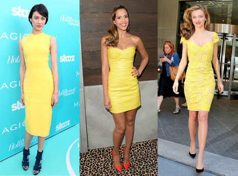 Fashion Poll : Who Wore the Yellow Dress Best ? - E! Online   Fashion   Scoop.it