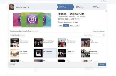 Facebook adds iTunes credit and recommendations to its Gifts service | It's just the beginning | Scoop.it