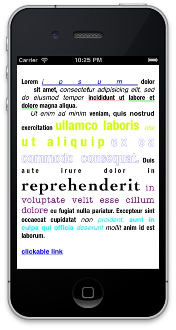 RTLabel - rich text formatting for iOS using HTML-like markup - coding for mobile | iPhone and iPad development | Scoop.it