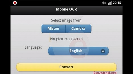 Ocr mmobile convertir des image en document word | What tool to use for your final project in ESL classes. | Scoop.it