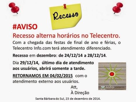 Colaboratorio Educa..: Recesso alterna atendimento no Telecentro Info.com | Portfolio Tele ICom | Scoop.it