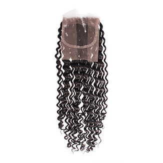 """100% Human Hair Black Beep Wave Hair Extension 16"""" 