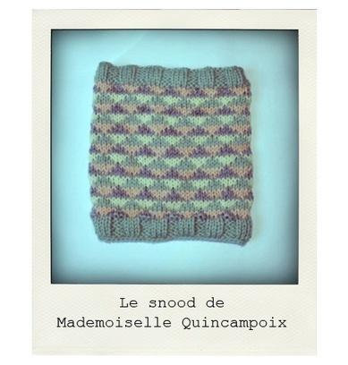 DIY : le snood de Mademoiselle Quincampoix - Photos Lifestyle - Be.com | Chouettes tutos | Scoop.it