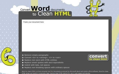 Convertir documentos de Word a HTML gratis con Word2cleanhtml | Al calor del Caribe | Scoop.it