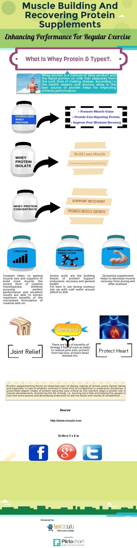 Muscle Building Protein Supplements | Visual.ly | Health | Fitness | Bodybuilding Supplement | Scoop.it