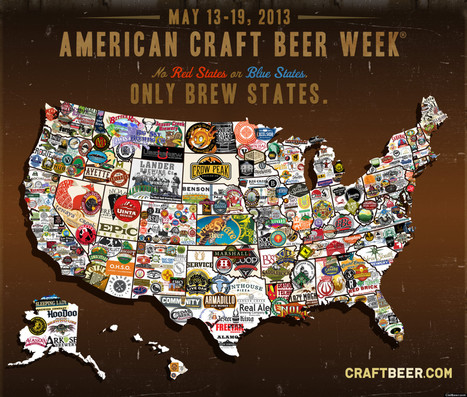 PHOTO: A Map Of The U.S., Craft Beer-Style | Maps & Globes | Scoop.it