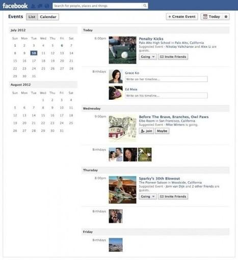 Facebook : Calendrier pour les évènements   Les News Du Web Marketing   Scoop.it