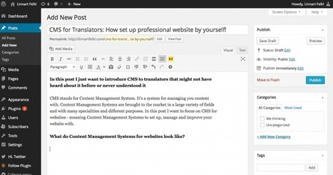 CMS for Translators: How to set up professional website by yourself! | Linnart Felkl | Translation industry | Scoop.it