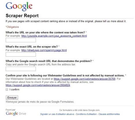 Formulaire anti scraper Google : dénoncer les c... | E-Tourisme-informatique | Scoop.it