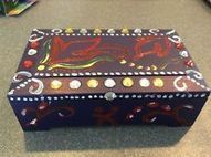 Unique Hand Painted Wooden Jewelry Box   wooden nautical item   Scoop.it