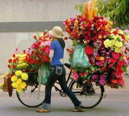 Photo: transport ordinaire de fleur au Vietnam! | RoBot cyclotourisme | Scoop.it