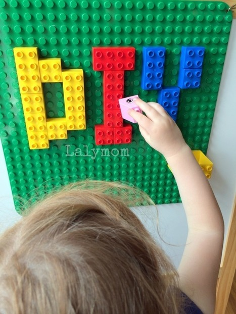 DIY Removable Non-Permanent LEGO Walls - LalyMom | Early Childhood Education | Scoop.it