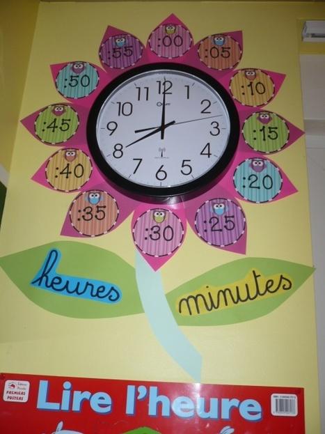 D coration de l 39 horloge de classe pour f for Decoration porte de la classe