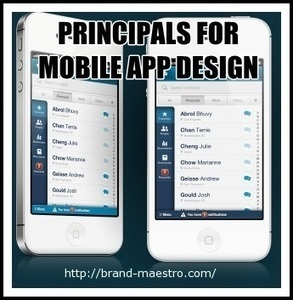 6 Essential Principles of Mobile App Design - Did You Check In? | Latest Tips on Web Design & Development | Scoop.it