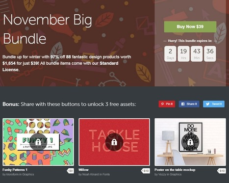 3 Freebies when u share November Big Bundle | Design Freebies & Deals | Scoop.it