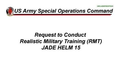 Jade Helm.pdf | Criminal Justice in America | Scoop.it