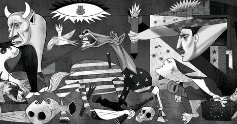 Un dessinateur a repris «Guernica» pour illustrer la guerre en Syrie | Arts et FLE | Scoop.it