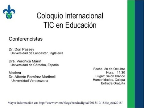 Coloquio Internacional de TIC en Educación | Brecha digital | TIC potenciando la educación | Scoop.it